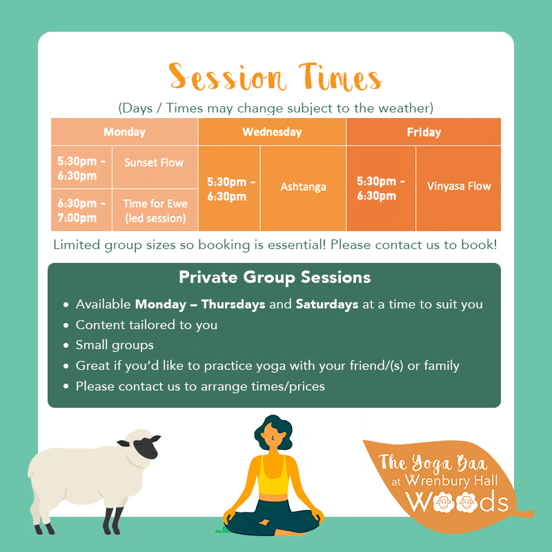 NEW Session Times with group session OCT